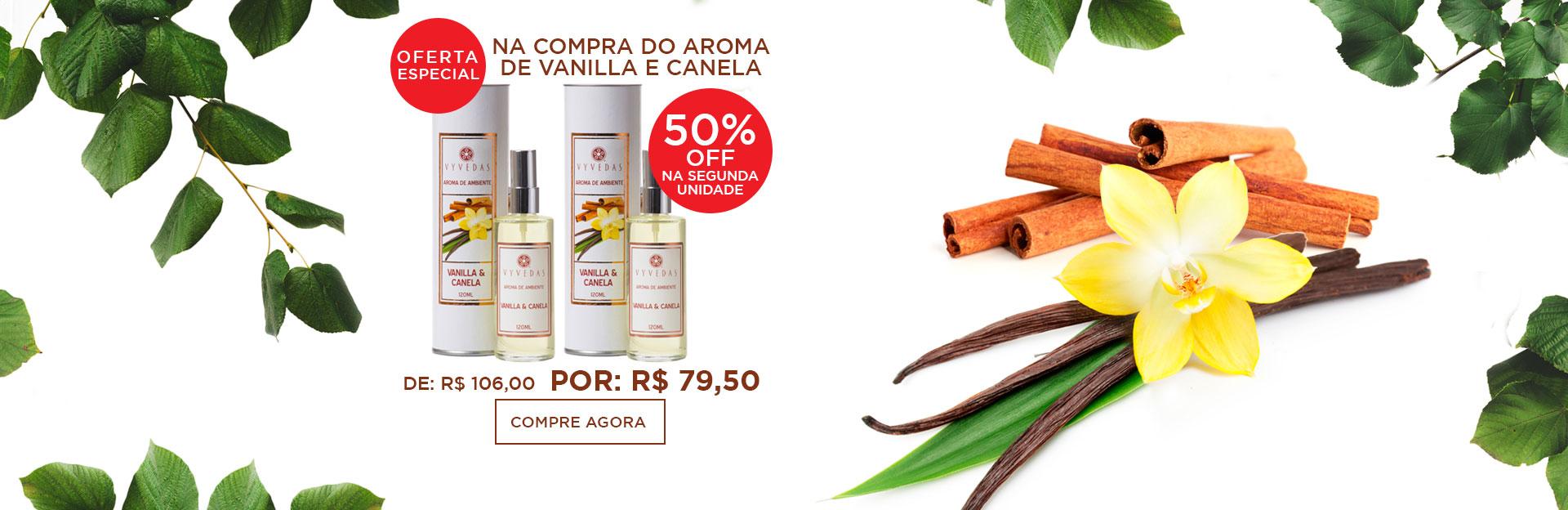 banner oferta aroma vanilla